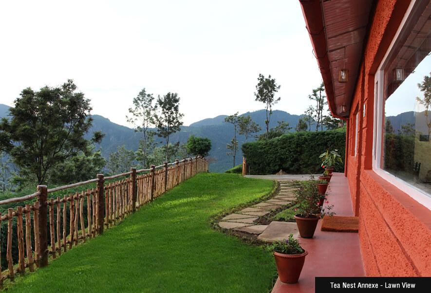 Lawn View of British Style House At Singara Estate