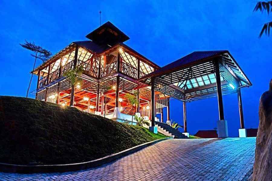 Night view of Wild Planet Jungle Resort