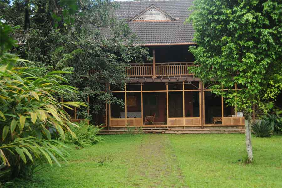 View-of-the-Homestay-Amidst-Plantation-at-Valathoor,-Wayanad