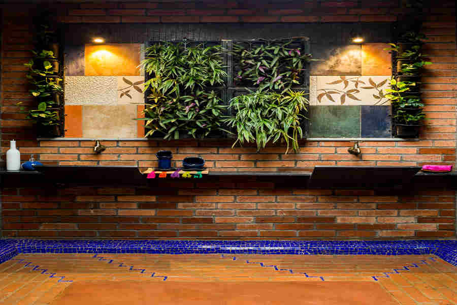Bathroom at the Eco-Friendly Stay at Karjat