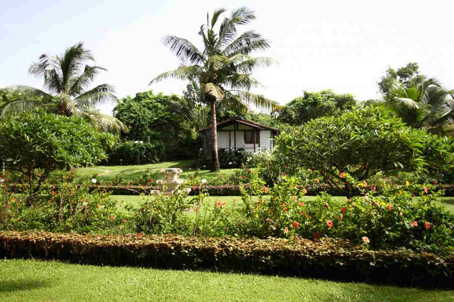 Gardens at the Upscale Beach Resort at Calangute