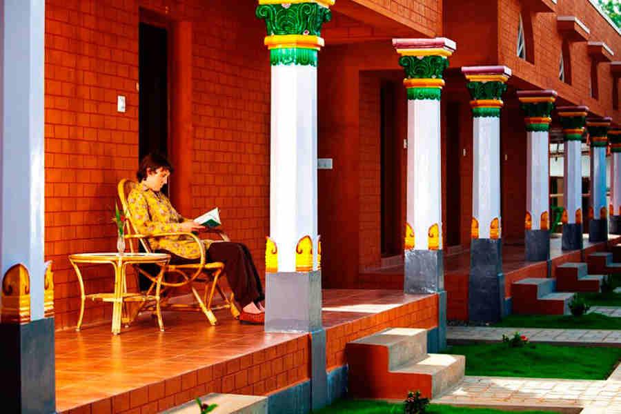 Portico-Area of the Village Resort at Kanadukatham