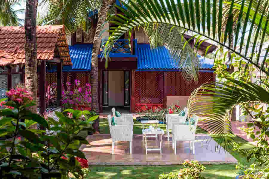 Garden at the Boutique Hotel near Baga Beach