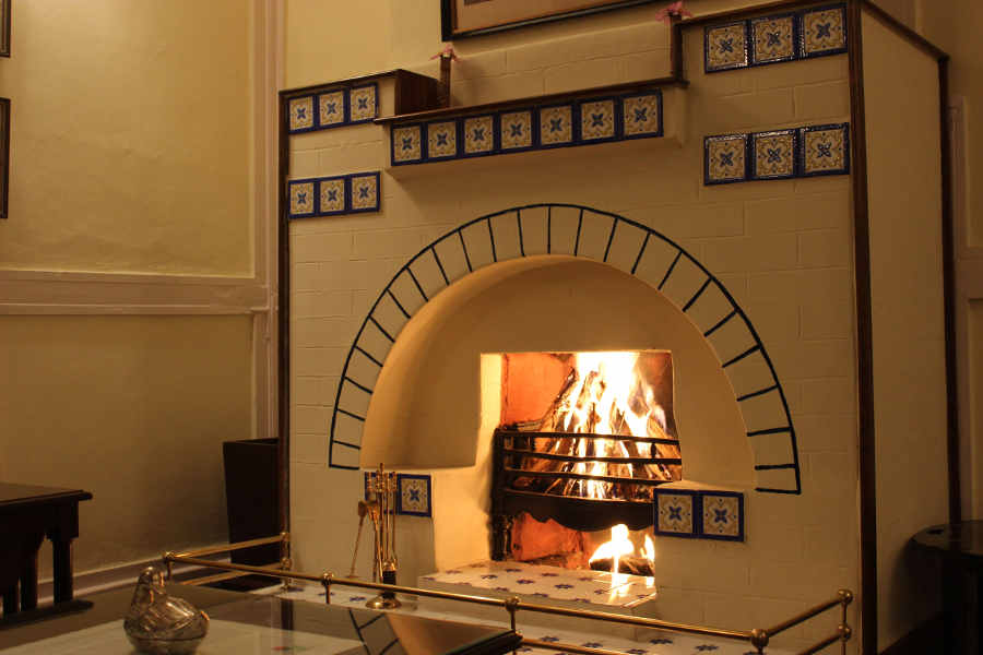 Fire place at the Plantation Bungalow off Mancotta Road