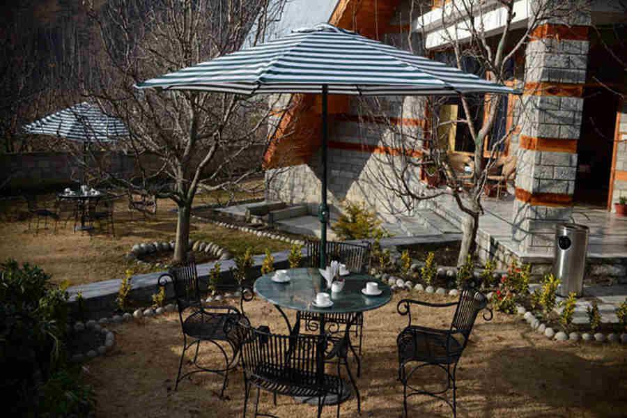 Outdooor seating at Classic Hill Station Villa At Siyal