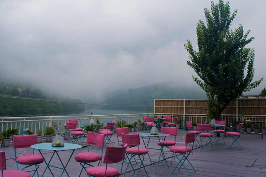 Deck at Serene Lodge On Bhimtal Lake
