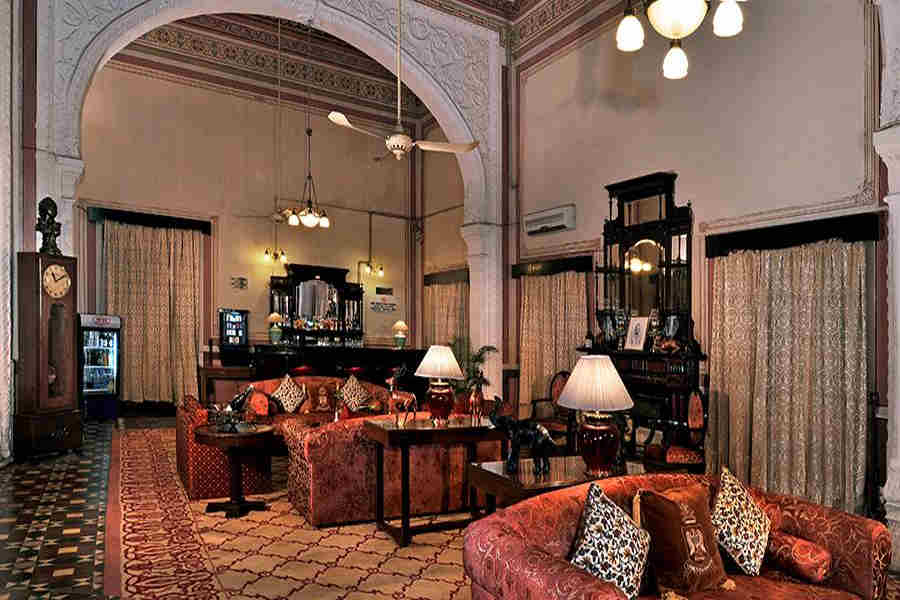 Lounge at Elegant Heritage Hotel In Kota
