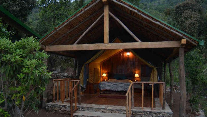 A Tent at the Boutique Glamping Stay At Munsiyari