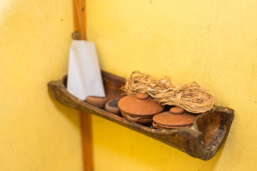 Bathing material used at the Indigenous Treehouse In Kumily