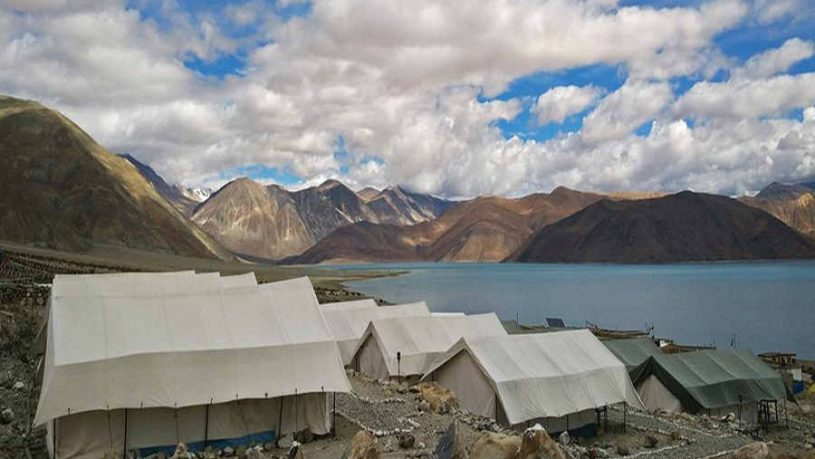 A Beautiful Campsite Near Pangong Lake