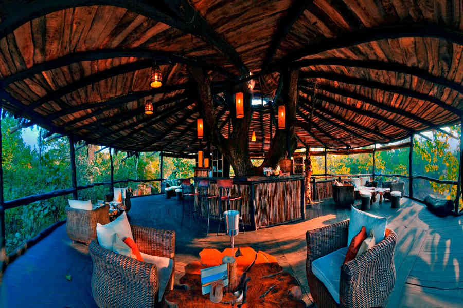 Dining Hall at the Luxury Treehouse At Bandhavgarh