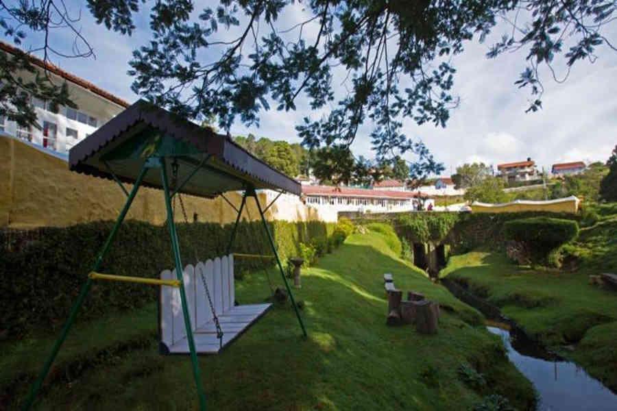 Lawn at the Serene Resort In Kodaikanal