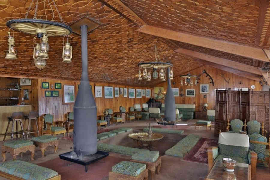 Lounge at the Chalet Themed Hotel In Gulmarg