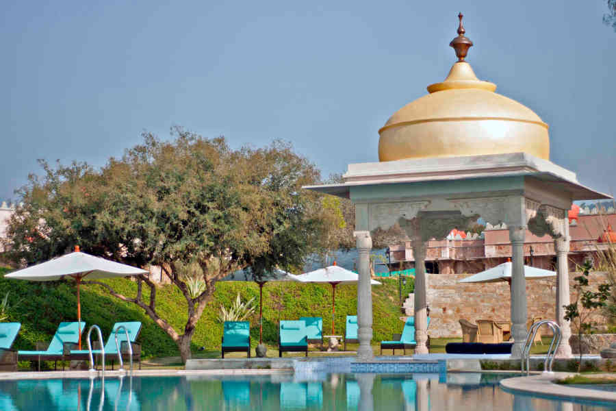 Pool Dome at the Themed Luxury Resort In Jaipur