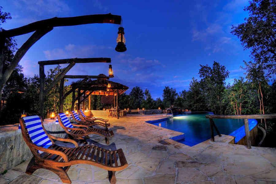 Pool at the Eco-Friendly Lodge At Kanha