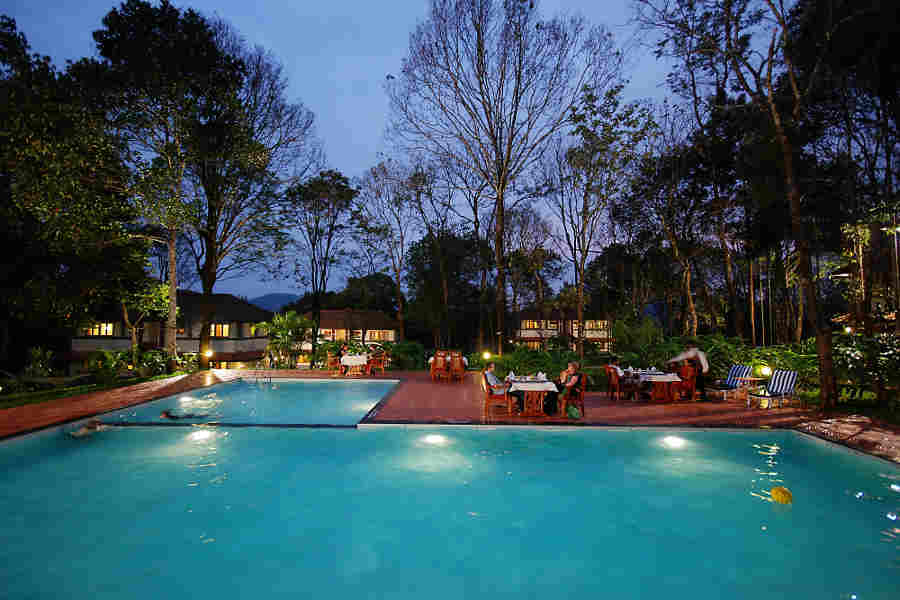 Swimming Pool at the Luxury Nature Resort In Kumily.