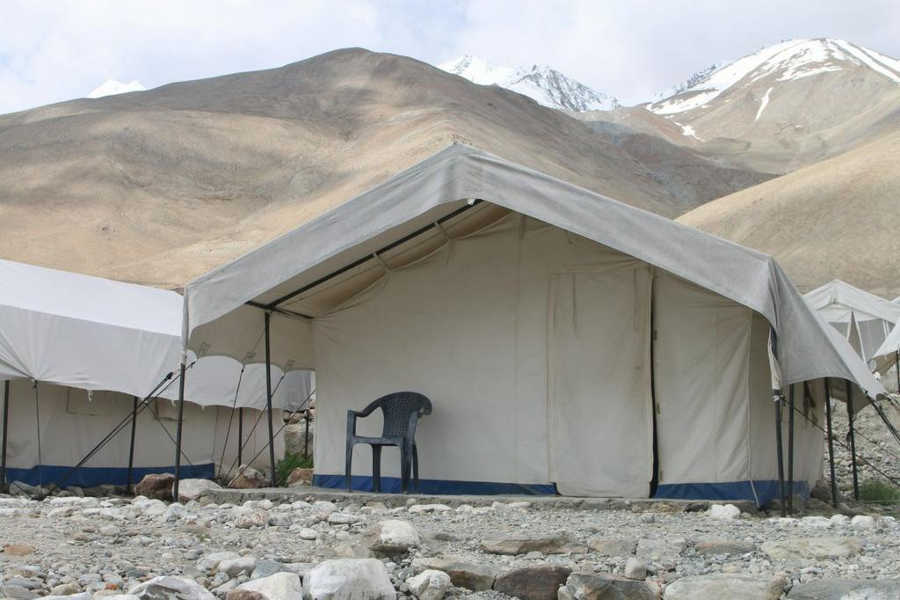 Tent at the Beautiful Campsite Near Pangong Lake