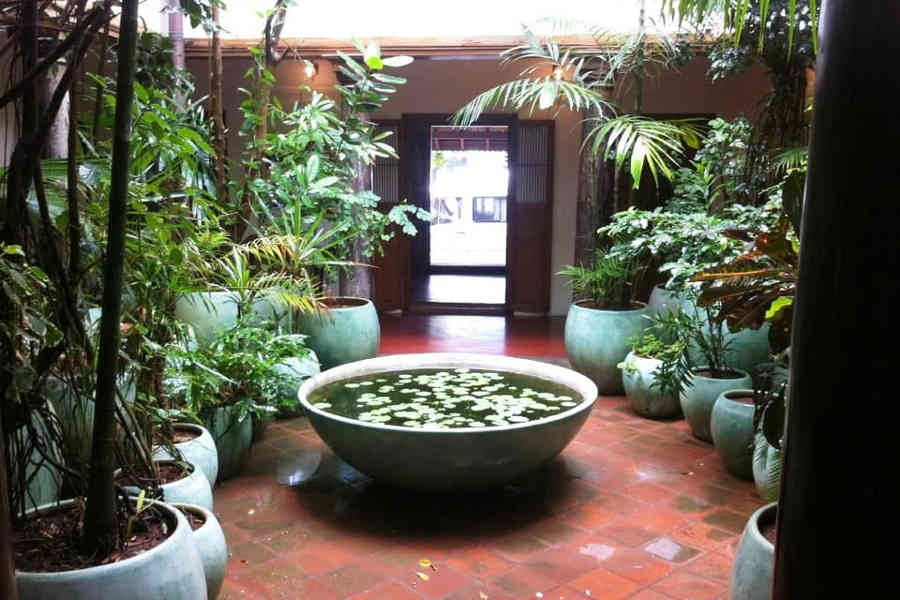 Courtyard at the CGH Boutique Stay in Puducherry