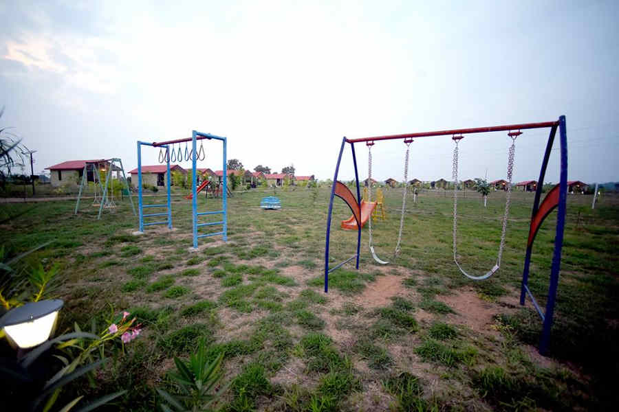 Play area at the Wildlife Resort At Moharli Near Tadoba