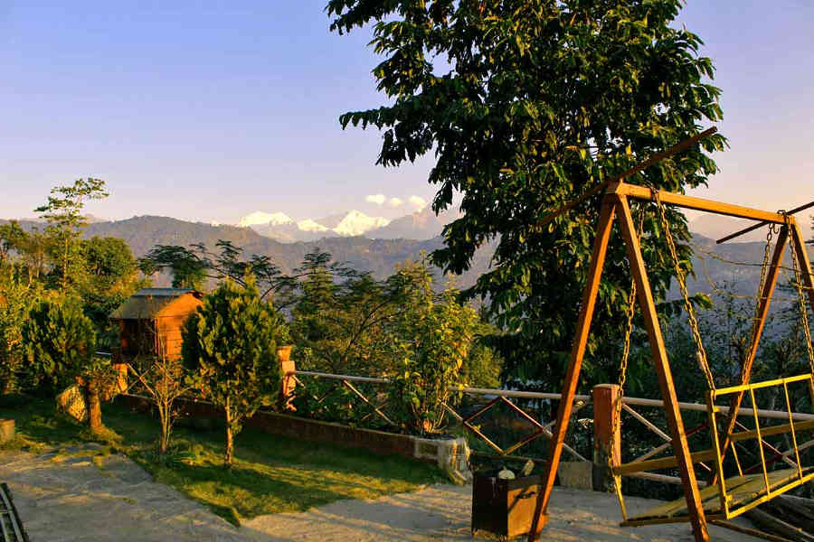 Play area at the Offbeat stay at Kaluk in Sikkim