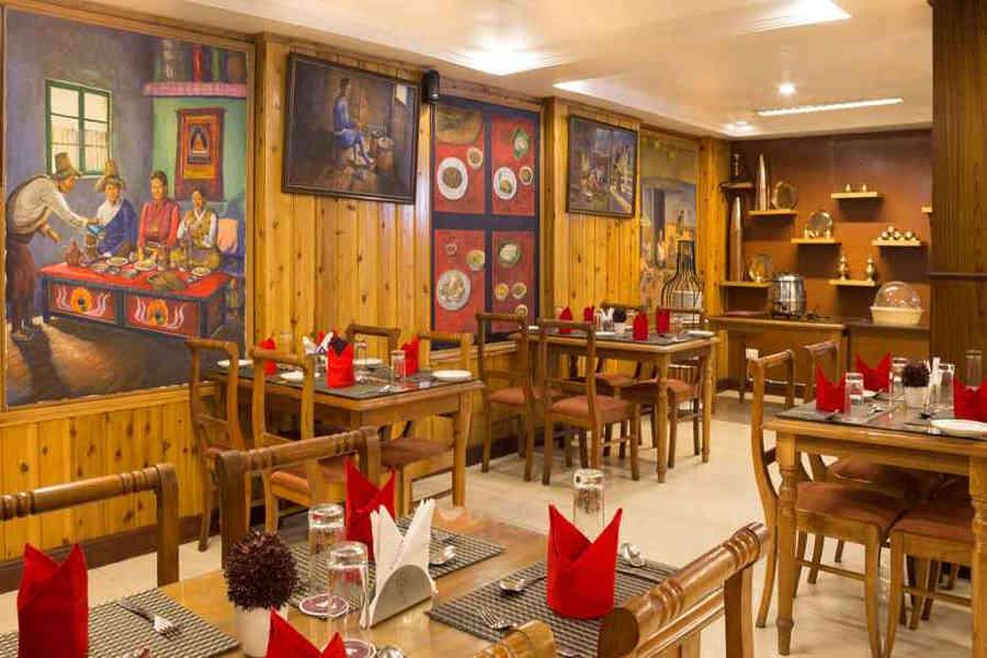 Restaurant at the Luxury Resort In Darjeeling...