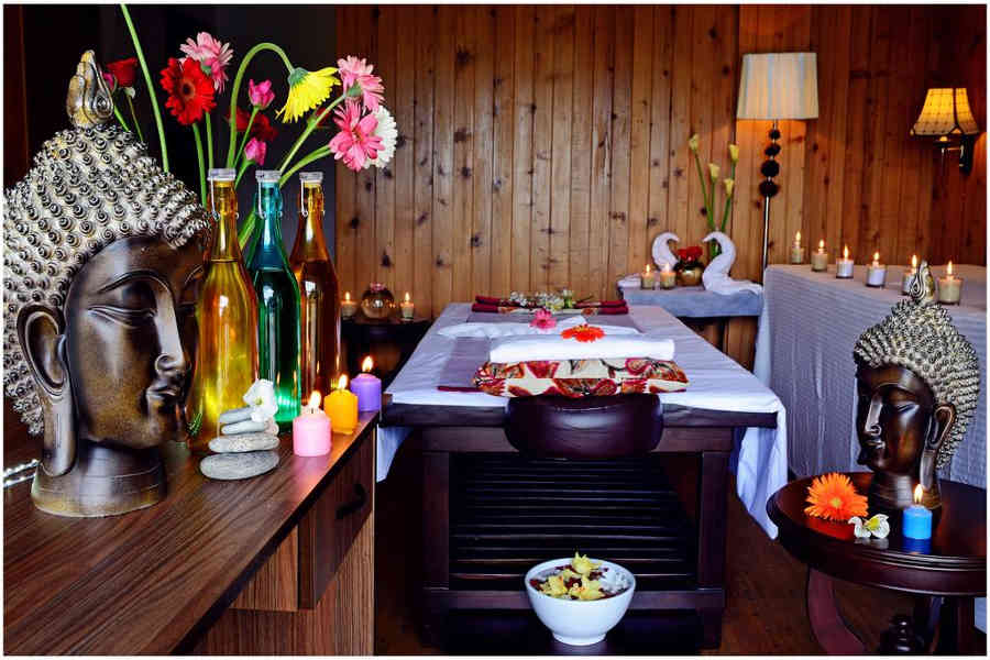 Spa room at the Elegant Resort And Spa In Kalimpong
