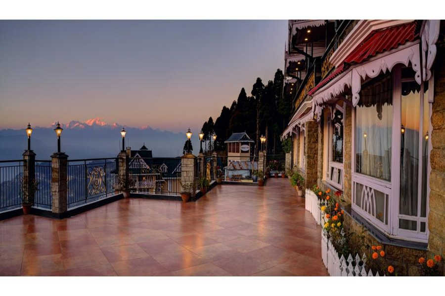 Terrace at the Romantic Resort And Spa In Darjeeling