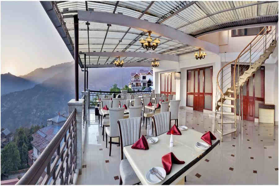 Terrace dining at the Mesmerising Resort And Spa In Gangtok