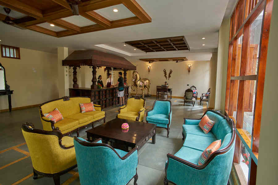 Lobby of the Exquisite Hideaway In Munnar