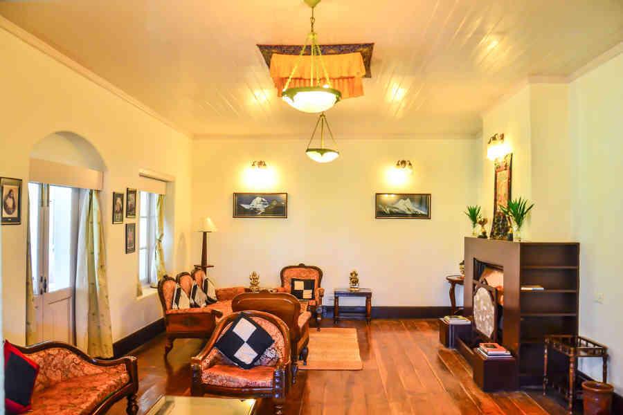 Lounge at the Tea Estate Stay In Darjeeling