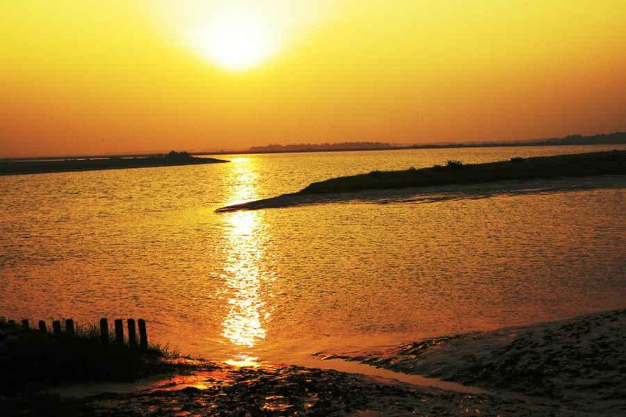 Sunset at Eco-friendly Resort At Bhitarkanika