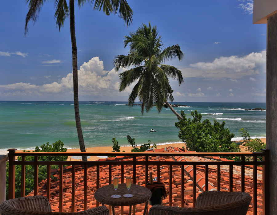 View from the Luxury Beach Resort In Unawatuna