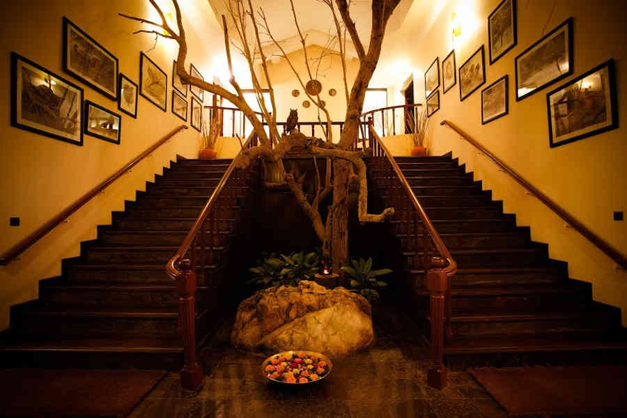 Entrance of the Luxury Jungle Lodge In Kanha