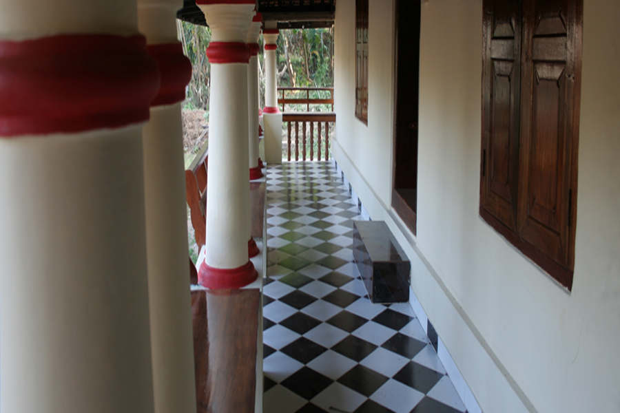 Verandah of the Traditional Homestay In Palakkad