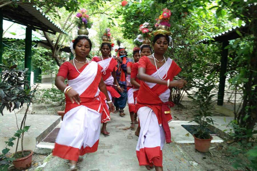 Adibasi Welcome at the at the Blissful Jungle Camp At Sunderbans