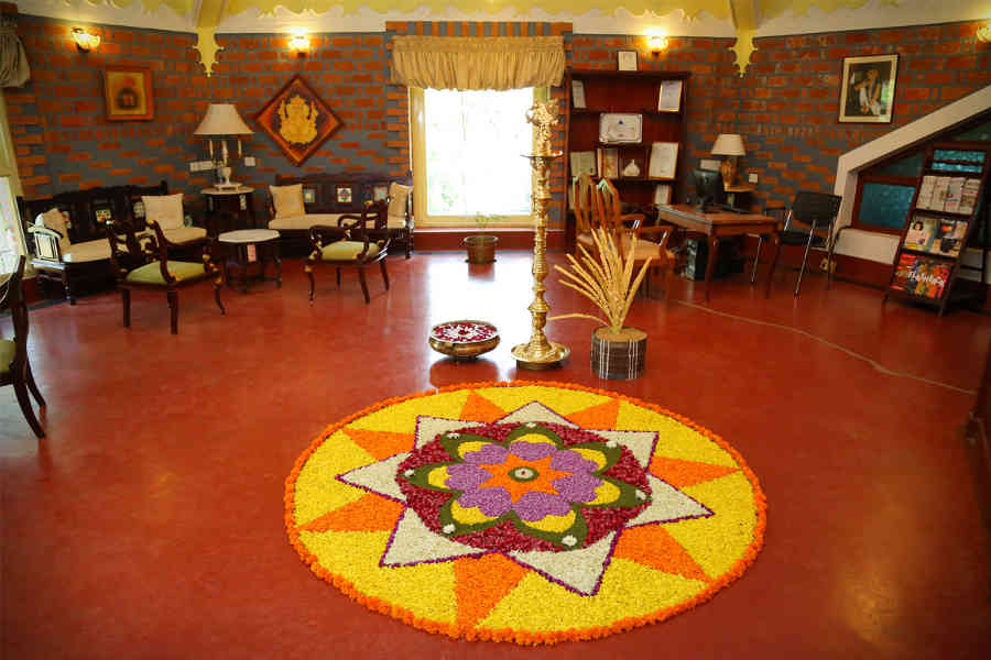 Lobby at the Ayurvedic Retreat in Palakkad