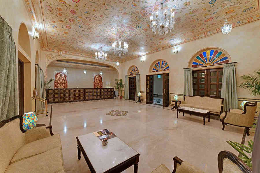 Lobby at the Heritage Palace Stay In Jaipur