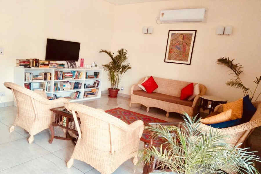 Lounge at the Boutique Homestay In Delhi