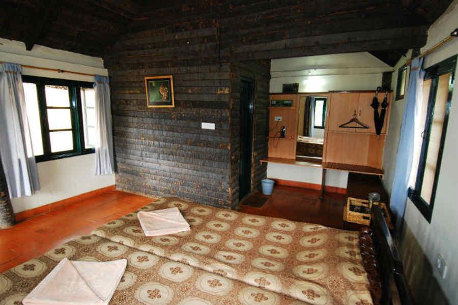Log Hut at K Gudi Wilderness Camp