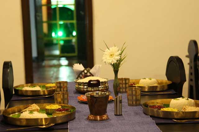 Saatvik meals at the Ayurveda Retreat