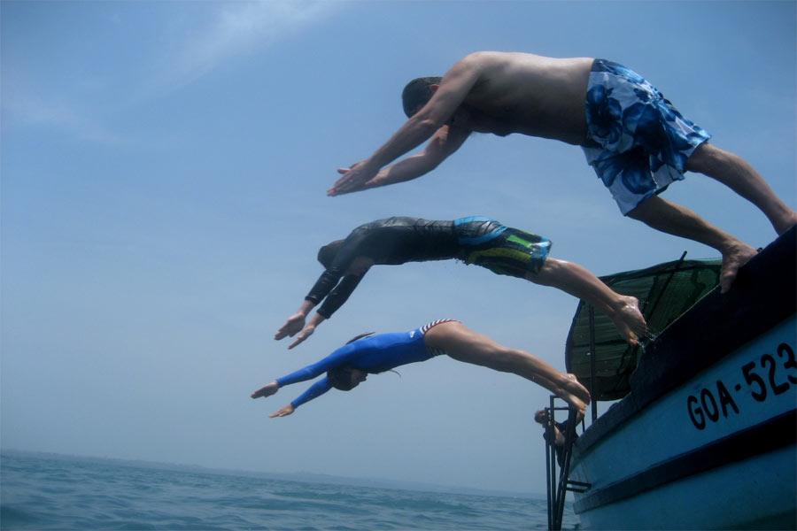Scuba-Diving-At-Goa---Practice-session