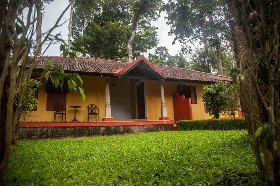 Green lawns in Eco Friendly Homestay at Biligeri