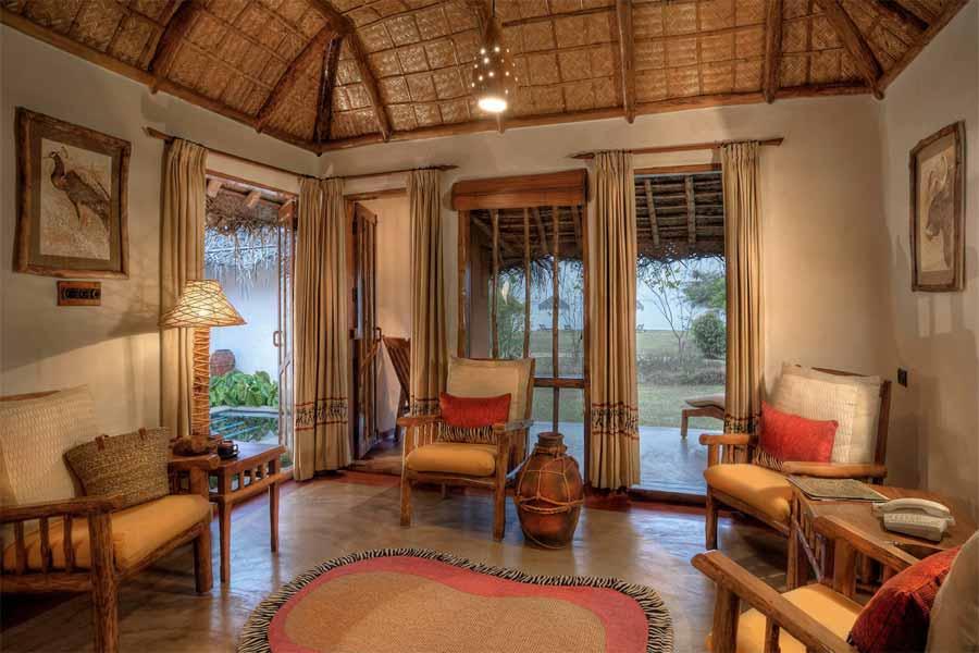 Kabini River Lodge-Living-Room-