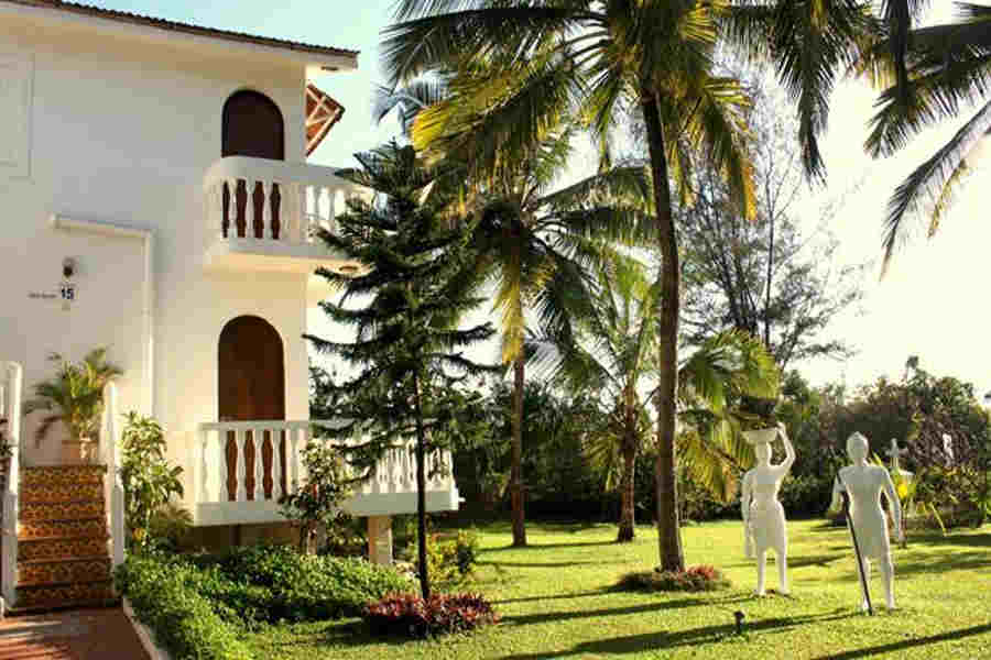 Exterior villa view at the Luxury Beach Resort at Baga Beach in Calangute