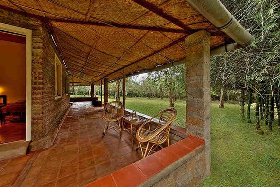 Verandah at Jungle Resort in Bokkapuram