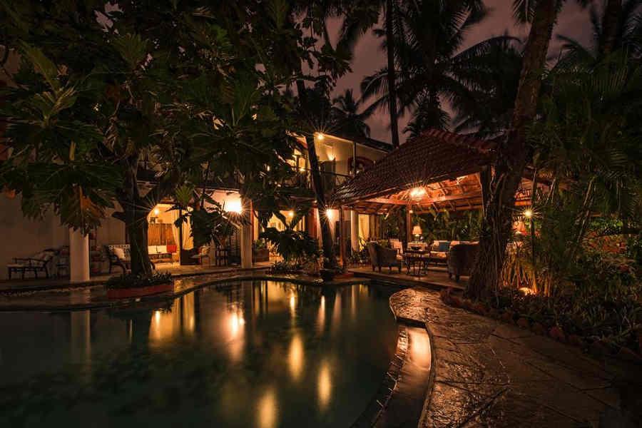 Evening lights at Goan Villa near Mandovi River