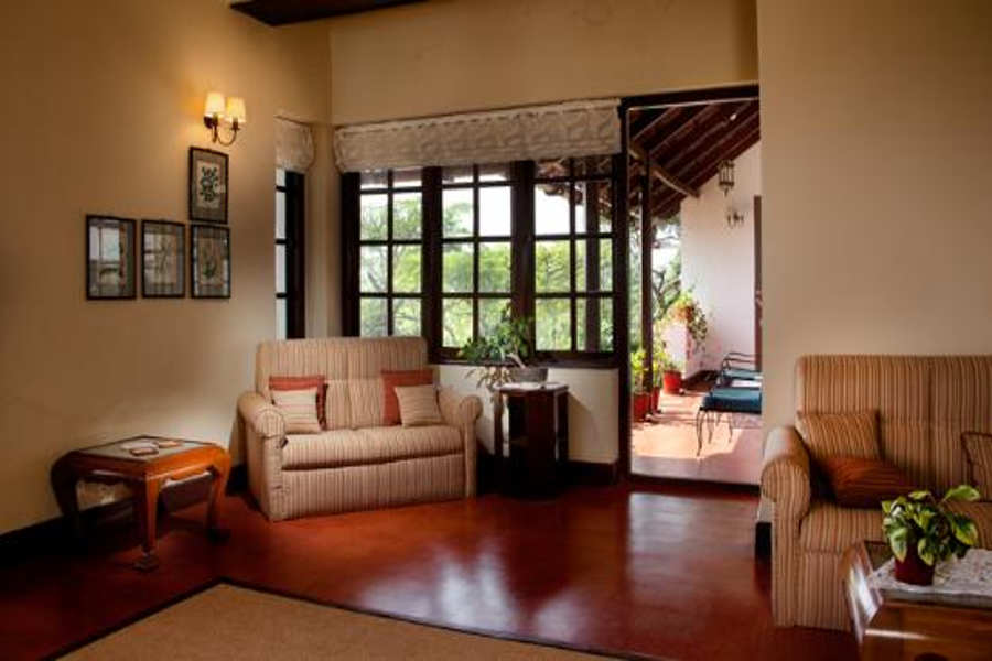 Living area at Heritage Bungalow at Pollibetta