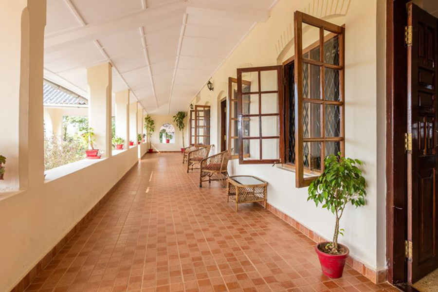 Verandah at Plantation Estate Bungalow at Hudikeri