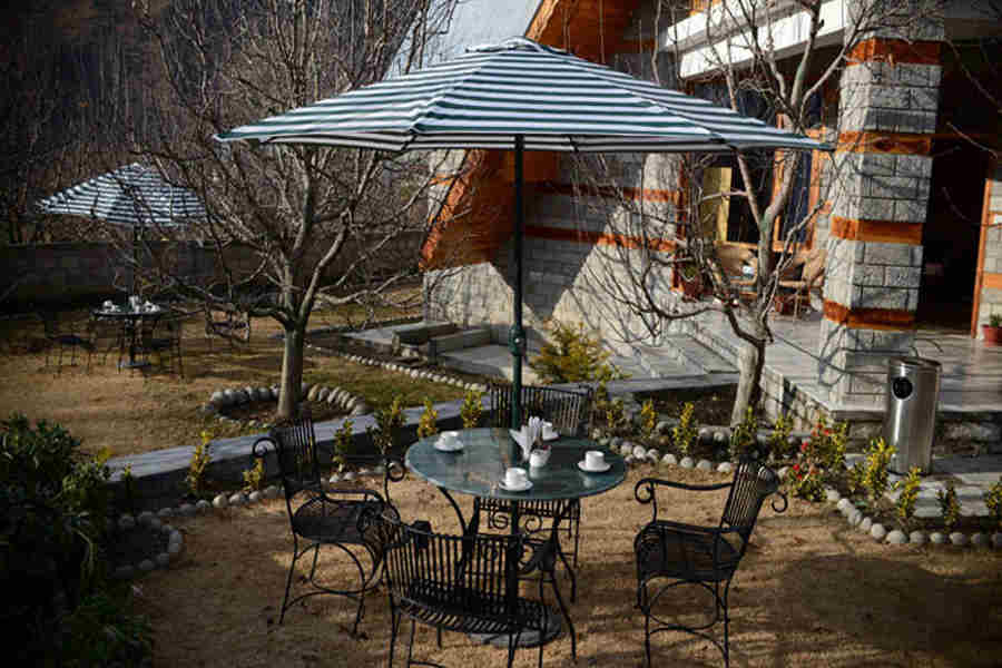 Outdooor seating at Classic Hill Station Villa At Siyal