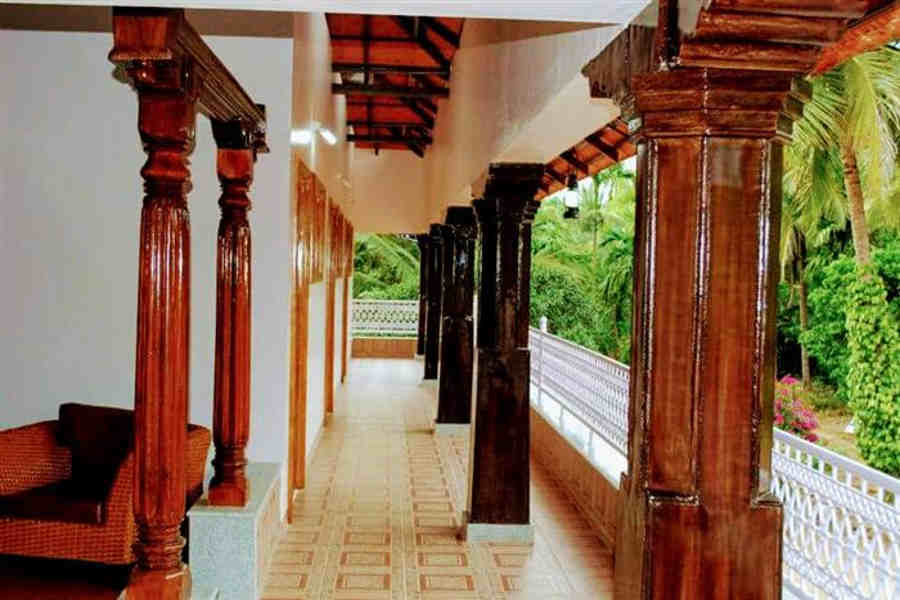 Passageway at Ancestral Family House At Thirthahalli
